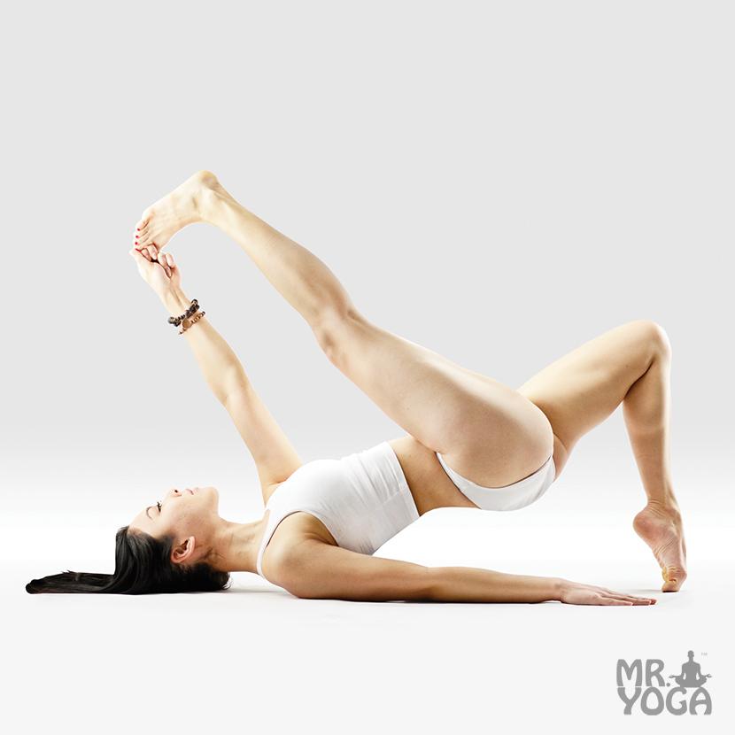 Yoga-Pose-Extended-Hand-to-Big-Toe-Pose-Intense-Ankle-Stretch-One-Legged-Bridge-Whole-Body-Pose-Utthita-Hasta-Padangushtasana-in-Uttana-Kulpa-Eka-Pada-Setu-Bandha-Sarvangasana
