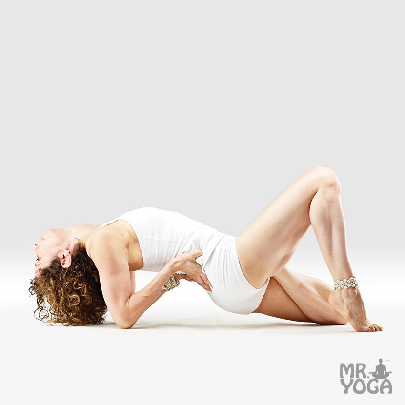 Yoga-Pose-Half-Lotus-Easy-Fish-Pose-Ardha-Padma-Sukha-Matsyasana