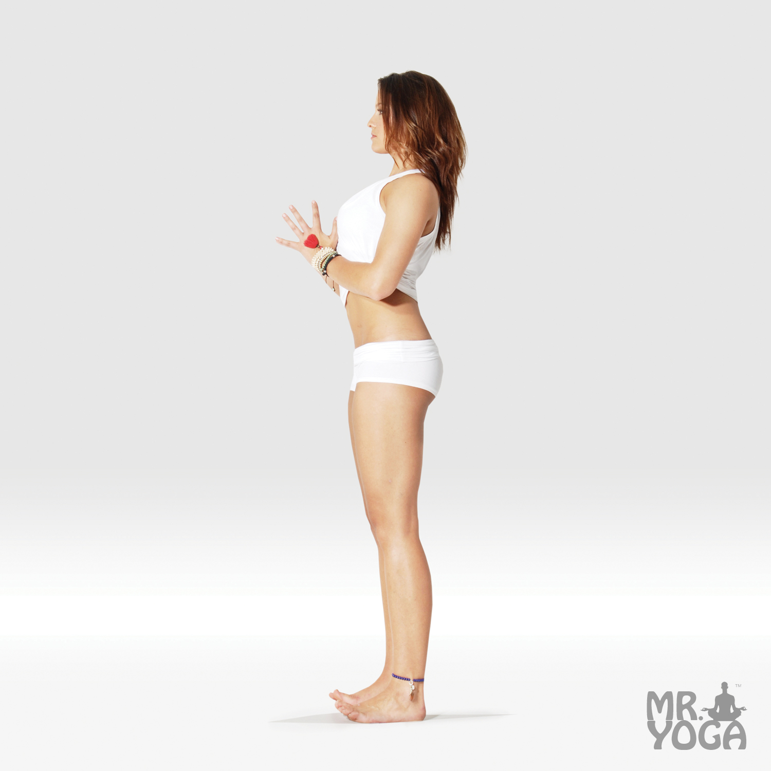 Mountain Pose - Hands in Prayer Pose • Mr. Yoga ® Is Your #40