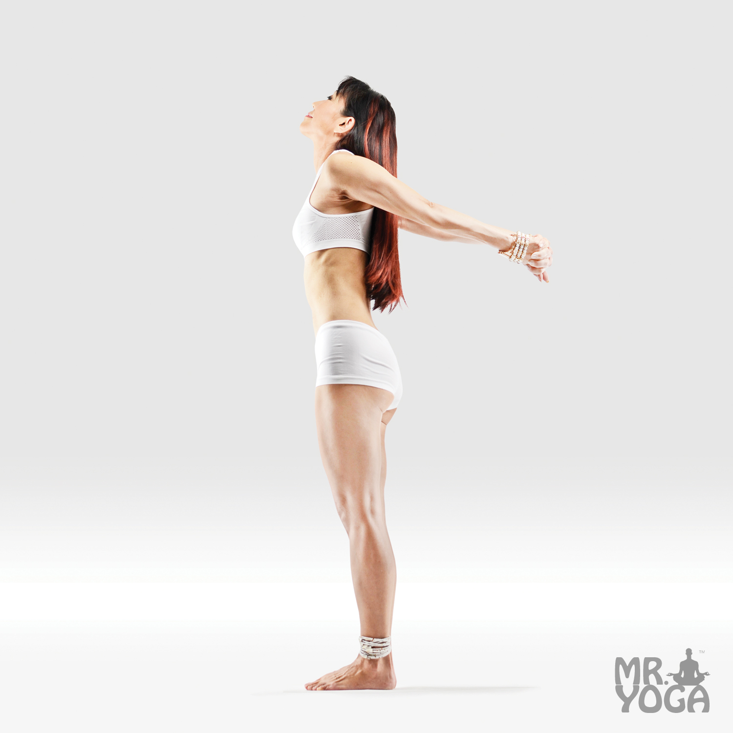 Hands Bound Mountain Pose • Mr. Yoga ® Is Your #40 Authority on
