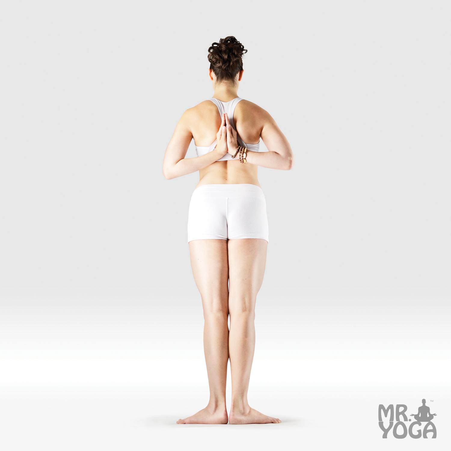 Reverse Prayer Mountain Pose Standing Yoga Poses